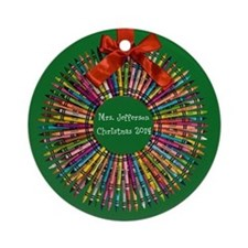 Personalized Teacher Christmas Ornament (round)