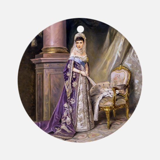 Makovsky: Empress Maria Fyodorovn Ornament (Round)