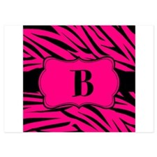 Personalizable Hot Pink Zebra Invitations