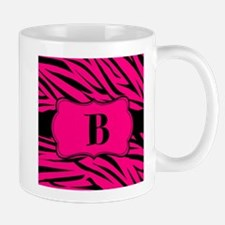 Personalizable Hot Pink Zebra Mugs