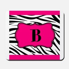 Personalizable Hot Pink Black Zebra Mousepad