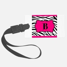 Personalizable Hot Pink Black Zebra Luggage Tag