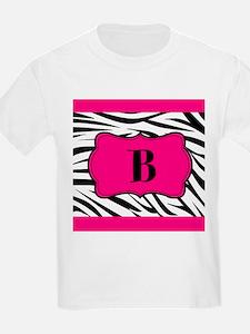 Personalizable Hot Pink Black Zebra T-Shirt