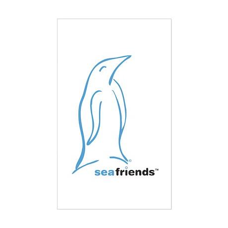 SeaFriends-Penguin Rectangle Sticker