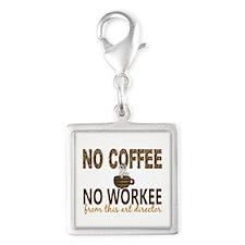 Art Director No Coffee No Wor Silver Square Charm