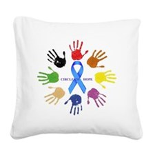 circle of hope Square Canvas Pillow