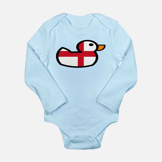 English Rubber Duckie Long Sleeve Infant Bodysuit