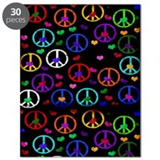 Rainbow Peace and Hearts Puzzle
