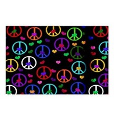 Rainbow Peace and Hearts Postcards (Package of 8)