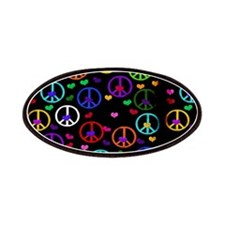 Rainbow Peace and Hearts Patches