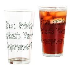 Irish Superpower Drinking Glass