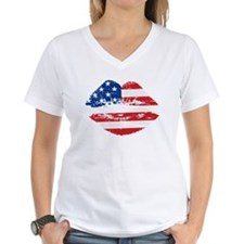 American Flag Lips T-Shirt