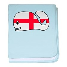 English Whale baby blanket