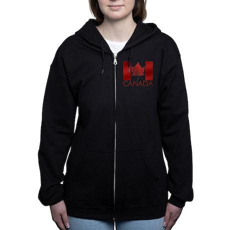 Canada Souvenir Hoodies Women's Women's Zip Hoodie
