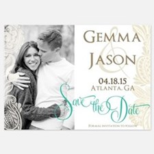 Paisley Cyngalese Save The Date Invitations