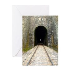 Train Tunnel Greeting Cards