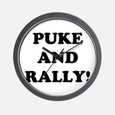 Puke & Rally<br> Wall Clock