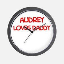 Audrey Loves Daddy Wall Clock