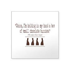 "Twin Peaks Chocolate Bunnie Square Sticker 3"" x 3"""