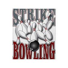 Bowling Strike Throw Blanket