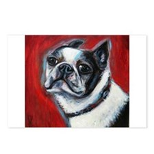 Portrait of a Boston Terrier Postcards (Package of