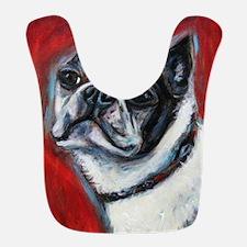 Portrait of a Boston Terrier Bib