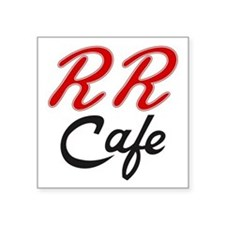 """RR Cafe - Twin Peaks Square Sticker 3"""" x 3"""""""