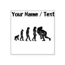 Custom Distressed Rugby Tackle Evolution Sticker