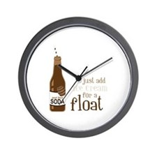 Just Add Ice Cream For A Float Wall Clock