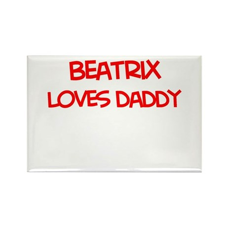 Beatrix Loves Daddy Rectangle Magnet