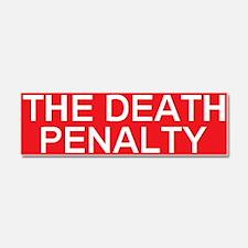 stop death penalty Car Magnet 10 x 3