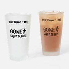 Custom Distressed Gone Squatchin Drinking Glass
