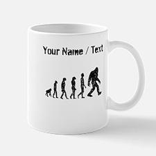 Custom Distressed Bigfoot Evolution Mugs