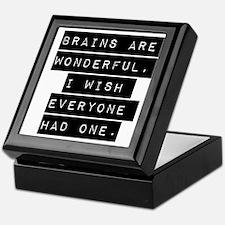 Brains Are Wonderful Keepsake Box