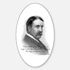 Daniel Burnham Chicago Architect Oval Decal