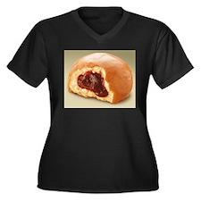Jelly Donut Women's Plus Size V-Neck Dark T-Shirt