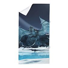 Ice Dragon Beach Towel