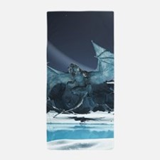 Ice Dragon Beach Towel