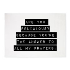 Are You Religious 5'x7'Area Rug