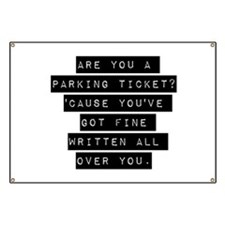 Are You A Parking Ticket Banner