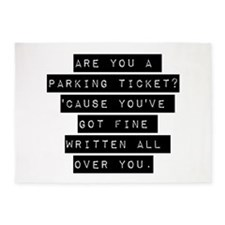 Are You A Parking Ticket 5'x7'Area Rug