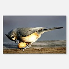 Tufted Titmouse Sticker (Rectangle)