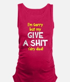 Give a shit fairy Maternity Tank Top