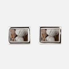 Balls of Yarn  Rectangular Cufflinks