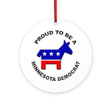 Proud Minnesota Democrat Ornament (Round)