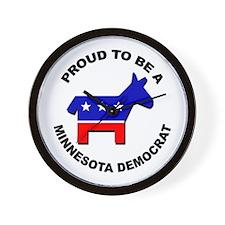 Proud Minnesota Democrat Wall Clock