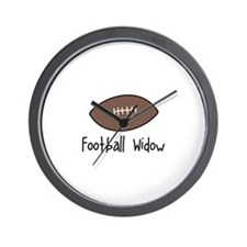 Football Widow Wall Clock
