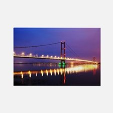 Humber Bridge at dusk Rectangle Magnet
