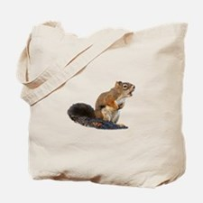 Singing Squirrel Tote Bag