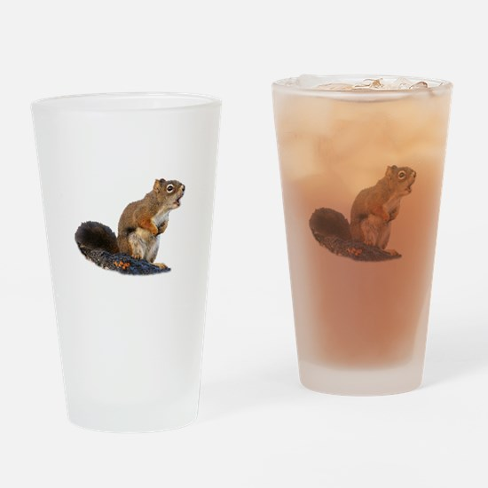 Singing Squirrel Drinking Glass